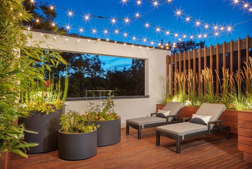 Soulful Dwelling Deck Lights, Interior Design by Mia Rao Design