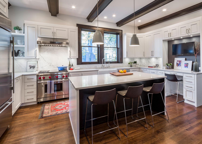 Chicago Interior Design Tudor Meets Modern Kitchen Mia Rao Design