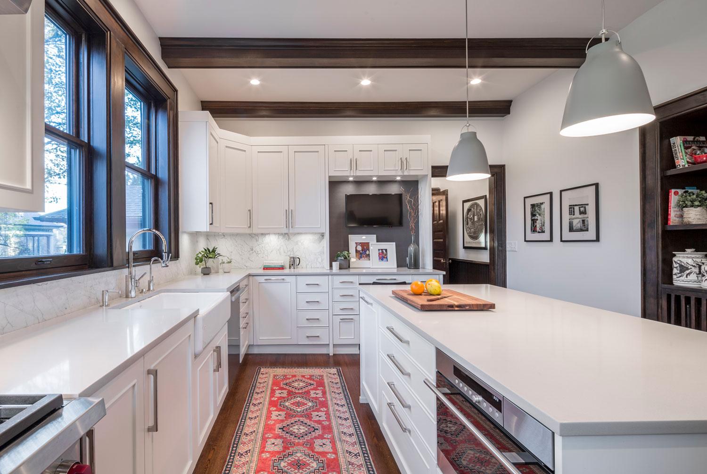 Mia Rao Design Tudor Meets Modern Kitchen Long View, Interior Design By Mia  Rao Design